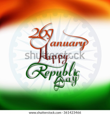 26 January tricolor background vector - stock vector