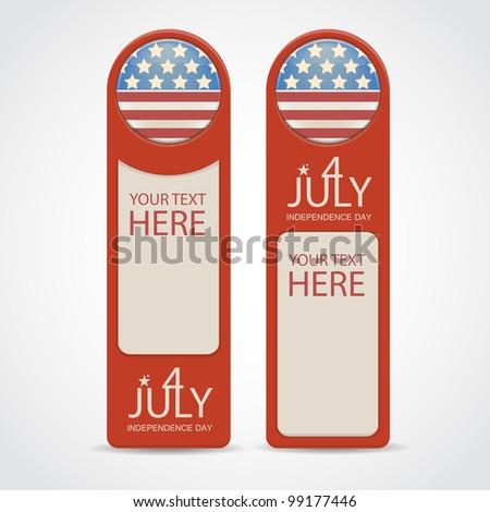 4 july theme. Vector illustration - stock vector