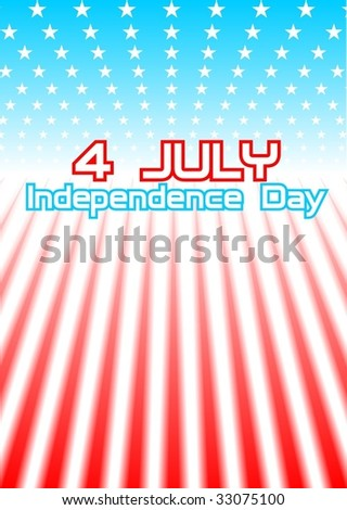 4july_vector_with text - stock vector