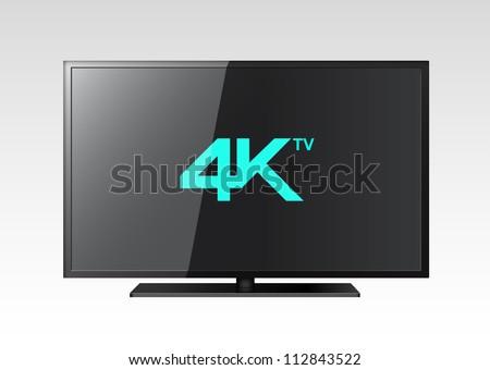 4K TV - stock vector