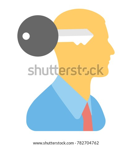 Key Mind Vector Icon