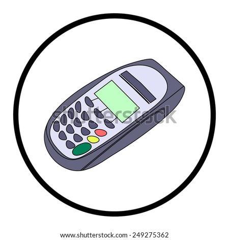 keypad and POS-Terminal - simple icons - stock vector