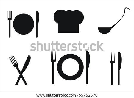 kitchen elements - stock vector