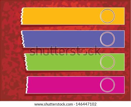 Label Ripped Paper Banner Designs with 4 Options