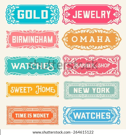 10 Labels and banners. Vector - stock vector