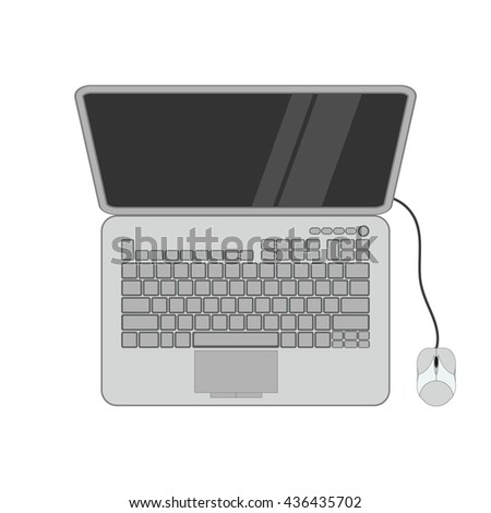 Laptop with pc mouse