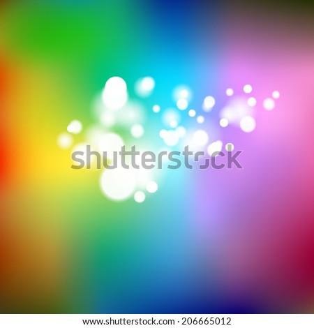 light effect rainbow background - stock vector