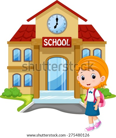 Little boy going school stock vector 275480114 shutterstock for What goes into building a house