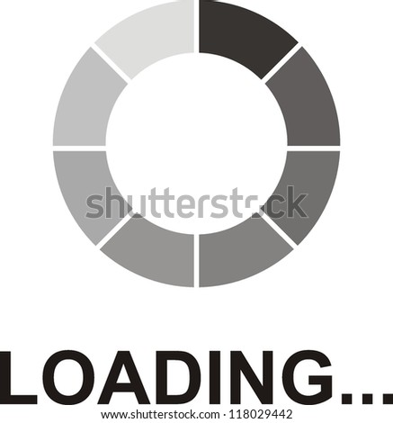 Loading  Vector Icons - stock vector