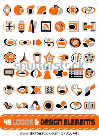 49 logos & deisgn elements vector illustration - stock vector