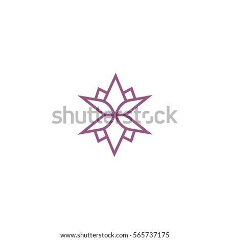 lotus flower logo template sign stock vector 565737175 shutterstock
