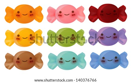 Lovely Candy Collection - Vector FIle EPS10 - stock vector