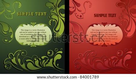 luxury flower vintage ornamental background - stock vector