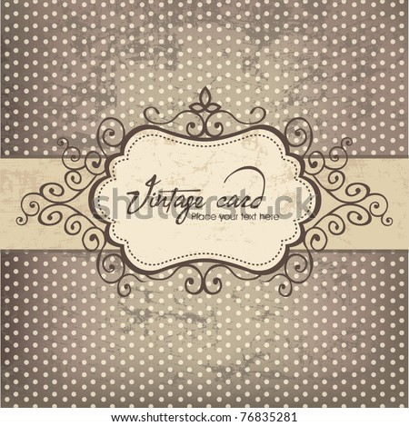Luxury vintage frame template - stock vector