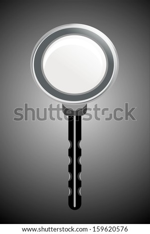 magnifying glass on a black background