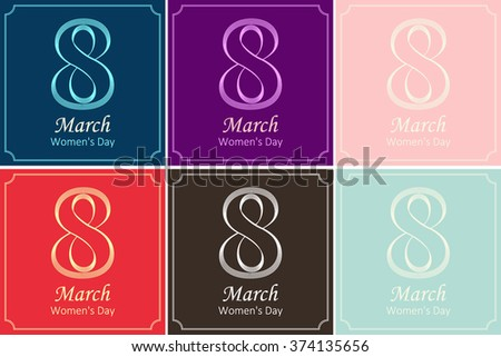 8 March, International Women's Day, greeting cardeps. Background template. EPS10 vector illustration.  - stock vector