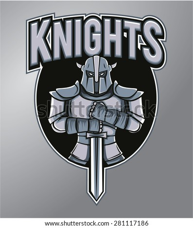 Mascot Knights - stock vector