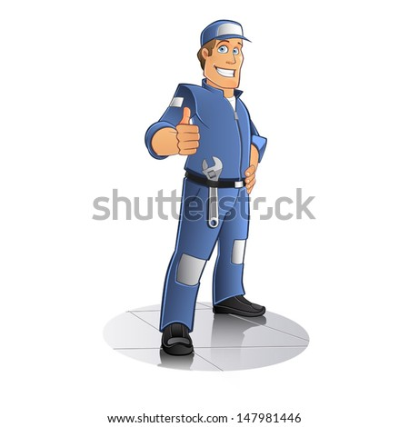 mechanic - stock vector