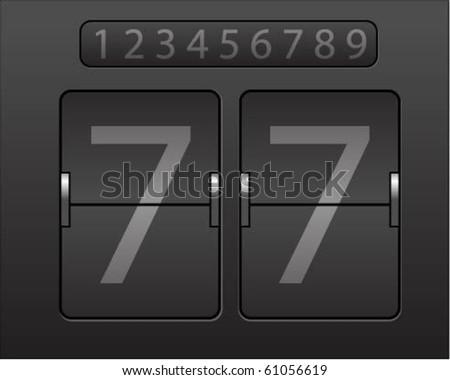 Mechanical scoreboard - stock vector