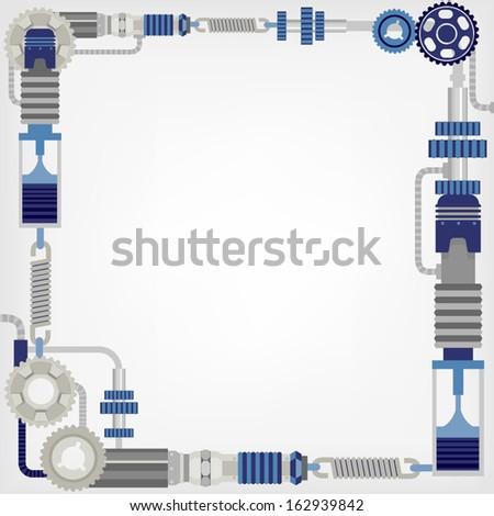 mechanism background - stock vector