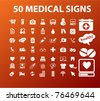 50 medical & health icons, signs, vector illustrations - stock vector