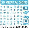 50 medical icons, signs, vector illustrations - stock vector