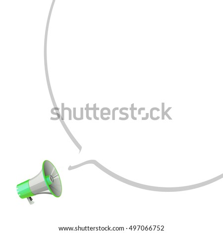 megaphone with bubble speech