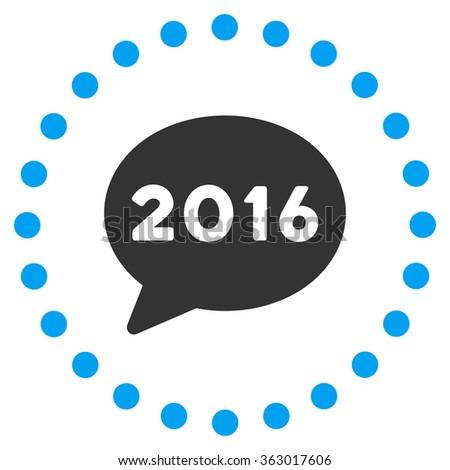 2016 Message Icon - stock vector