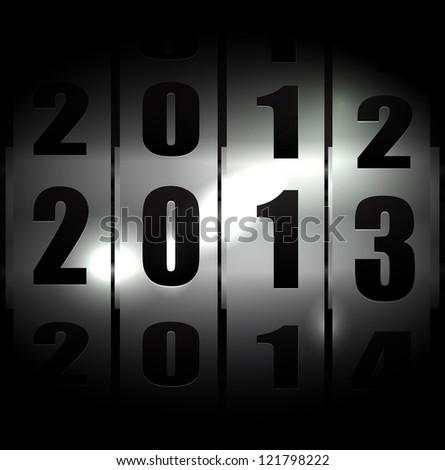 2013 metallic background eps10 - stock vector
