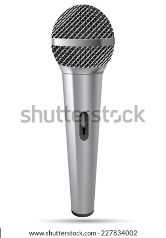 Microphone vector illustration. - stock vector