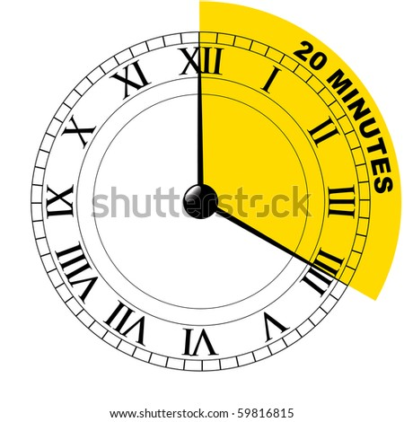 20 minutes - stock vector