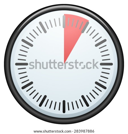 5 Minutes / 1 hour timer - stock vector