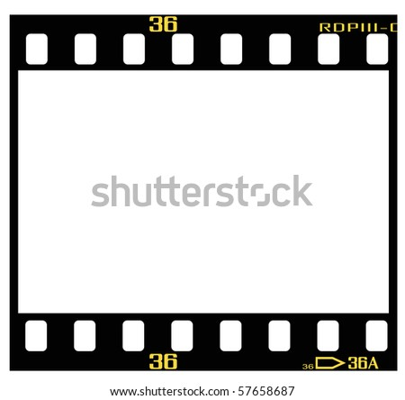 35mm slide/positive frame, with details and accurate dimension. - stock vector