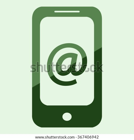 Mobile phone icon with Email sign icon (Vector)