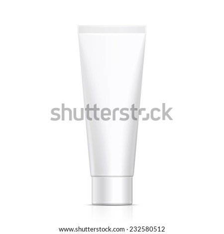 Mock Up Tube Of Cream Or Gel Grayscale White Clean. Ready For Your Design. Product Packing Vector EPS10 - stock vector