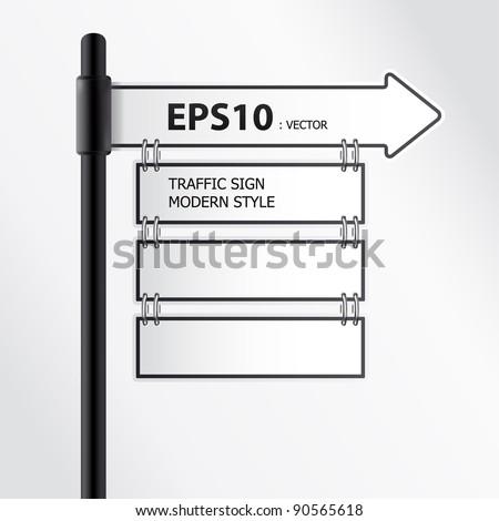 modern traffic sign vector - stock vector