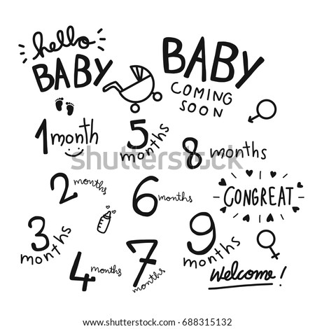 7 8 Months Stock Images Royalty Free Images Vectors