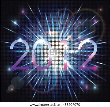 2012 Mosaic explosion - stock vector