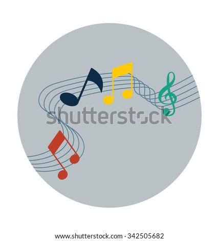 Music Wave Colored Vector Icon