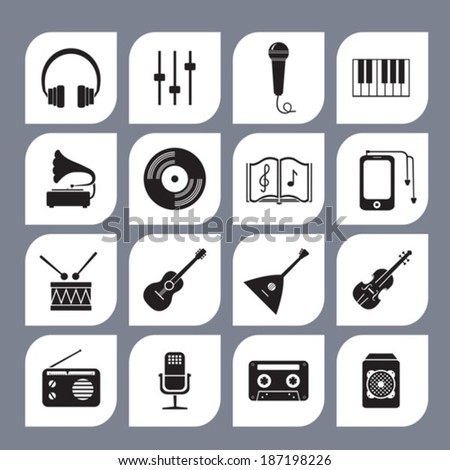 Musical  symbol. Vector.  EPS-10 (non transparent elements, non gradient).  - stock vector