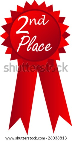 2nd place ribbon First Place Ribbon Red