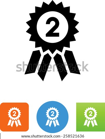 2nd place symbol. Editable vector icons for video, mobile apps, Web sites and print projects.  - stock vector