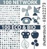200 network & eco signs. vector - stock vector