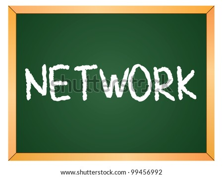 """""""network"""" word written on chalkboard - stock vector"""