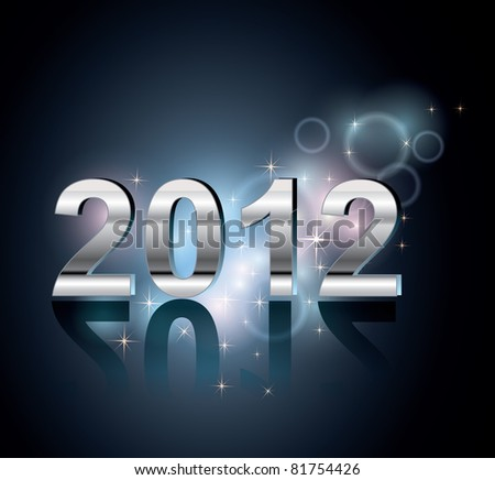 2012 New Year background - stock vector