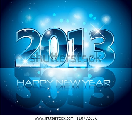 2013 New Year Background EPS 10 - stock vector