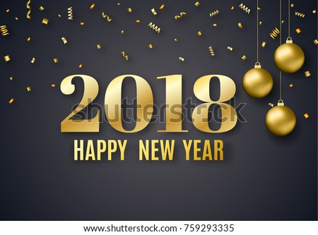 2018 new year background holiday greeting stock vector 759293335 2018 new year background for holiday greeting card invitation party flyer poster stopboris Choice Image