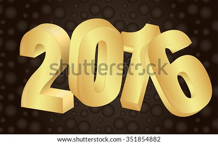 2016 new year background Vector EPS 10 illustration - stock vector