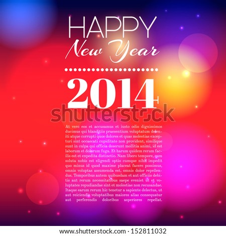 2014 new year background with place for text - stock vector