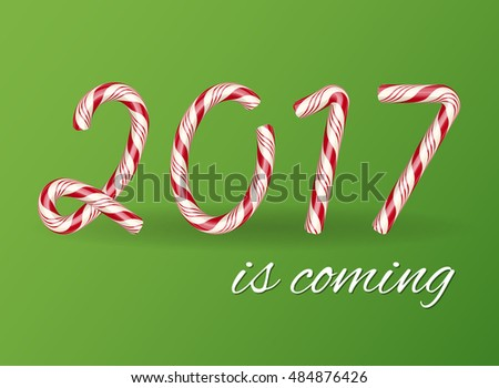 Candy Cane Typographyfonttypeface Vector Stock Vector 338632691